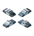 police car emergency isometric vehicles different vector image vector image