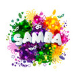 popular event in brazil carnival title with vector image