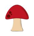 red fungus symbol vector image