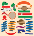 Ribbon banners collection vector image