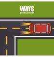 roads and ways design vector image vector image
