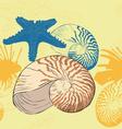 seamless background marine life vector image