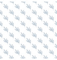 seamless geometric pattern with leaves blades of vector image vector image