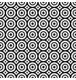 seamless pattern with black and white circles vector image vector image