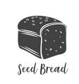 seed bread glyph vector image vector image