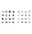 set of emergency fire safety and protection icons vector image