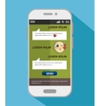 smart phone bubble chat messenger vector image