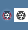 soccer set of two styles round emblems or logos vector image vector image