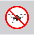 stop air drone allowed sign vector image