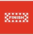 The finish icon Finish symbol Flat vector image vector image