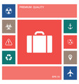 travel bag icon elements for your design vector image vector image