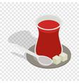 turkish tea isometric icon vector image vector image