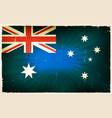 vintage australia flag poster background vector image vector image