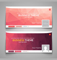 Web business site design Header Layout Template vector image
