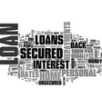 which loan to use text word cloud concept vector image vector image