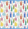 wine bottles pattern vector image vector image
