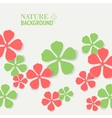 Colored flowers vector image