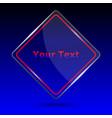 glass trophy award trophy award on blue background vector image