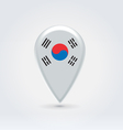 South Korean icon point for map vector image