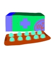 Cartoon pills icon vector image