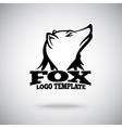 Fox logo template for sport teams brands vector image