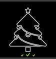 christmas tree it is white icon vector image