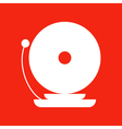 Fire Alarm Icon Isolated on red background vector image