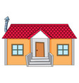 a simple house on white background vector image vector image