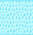 abstract pine trees seamless pattern vector image vector image