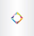abstract square geometric colorful logo business vector image vector image