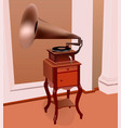 an ancient gramophone vector image