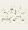 ascorbic acid formula vector image vector image