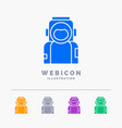 astronaut space spaceman helmet suit 5 color vector image