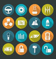 Auto accessories icons set Colors plate vector image vector image