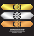 Banner and Header Thai Pattern vector image vector image