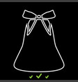 bell with bow ribbon it is white icon vector image vector image