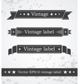 Black ribbons with retro vintage styled design vector image
