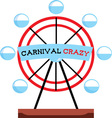 Carnival Crazy vector image vector image