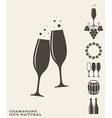 Champagne Icon set vector image vector image