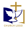 church logo symbol christianity cross vector image