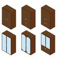 Cupboard isometric vector image