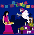 day of the dead altar de muertos 3 vector image vector image
