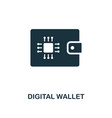 Digital wallet icon creative element design from