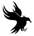 Eagle silhouette vector image vector image