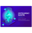 ethereum color isometric banner vector image