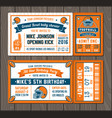 football invite tickets vector image vector image