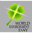 Four leaf clover on a plaid background on a plaid vector image