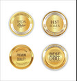 golden metal labels retro collection 6 vector image vector image