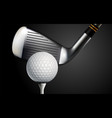 golf realistic background vector image