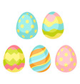 happy easter seamless pattern wiht eggs vector image